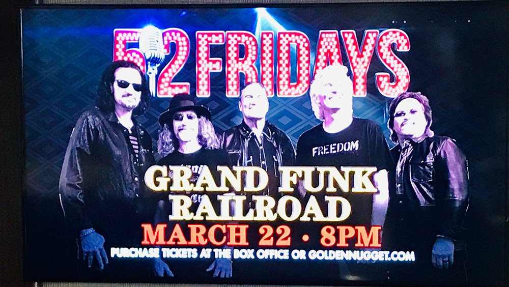 GFR billboard at Golden Nugget