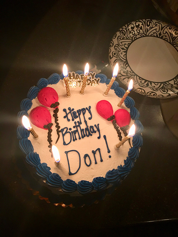 Don's birthday cake