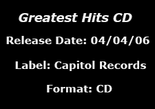 Greatest Hits CD data