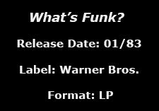 What's Funk? data