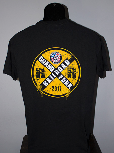 2017 black shirt back