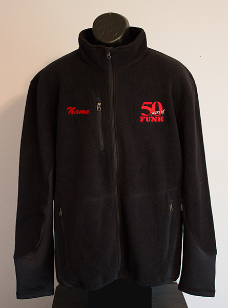 50YOF fleece jacket front